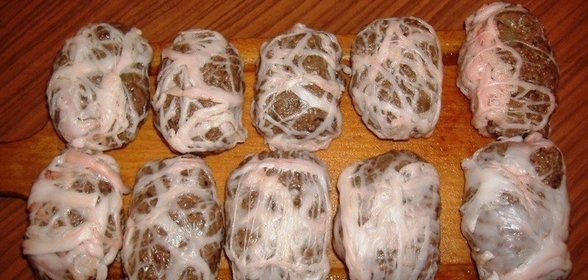 Как приготовить сальники из печени в сетке