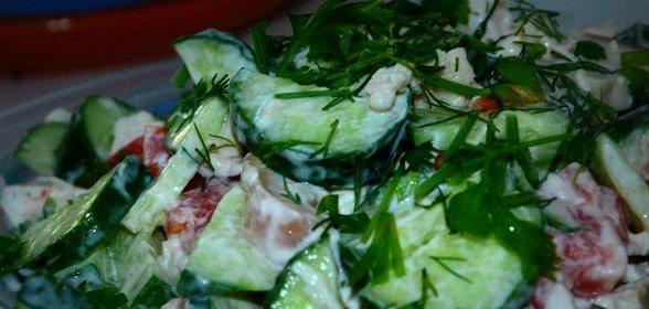 Рецепты легких диетических салатов с