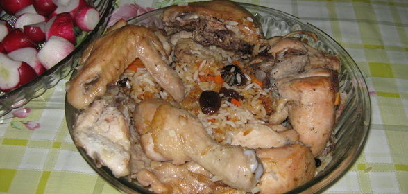 Курица с рисом в духовке в рукаве рецепт с фото пошагово