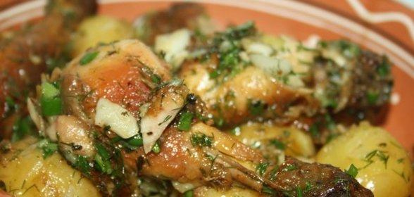 Рецепты вторых блюд с фото картошкой с курица
