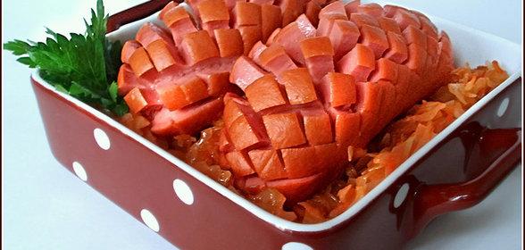 лодочки с сосиской рецепт с фото