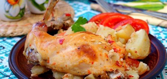 Кролик с картошкой в духовке  кулинарный рецепт