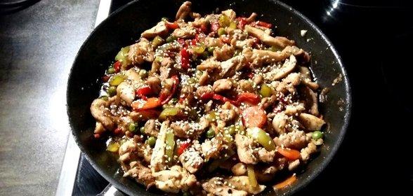 Как приготовить курицу со стручковой фасолью