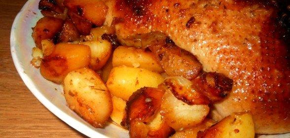 Утка с картошкой в духовке пошаговый рецепт с фото