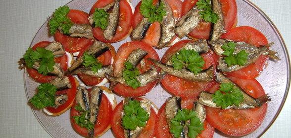 Пошаговый Простой Рецепт бутербродов со шпротами с фото для приготовления в домашних условиях