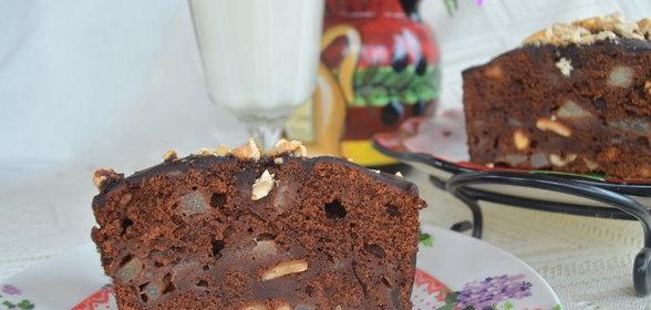 Торт с грушами фото