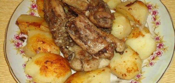 Рецепты курицы на сковороде с картошкой с фото