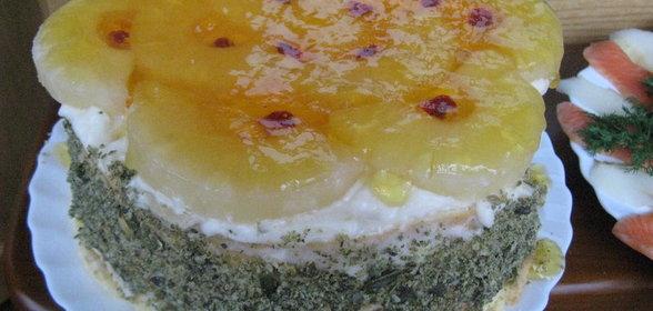 Бисквитный торт ананасовый рецепт с фото