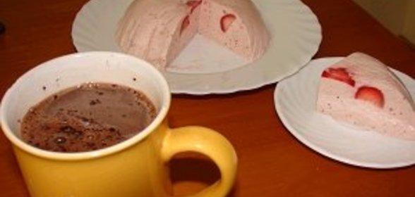 Сметанное желе с клубникой пошаговый рецепт с