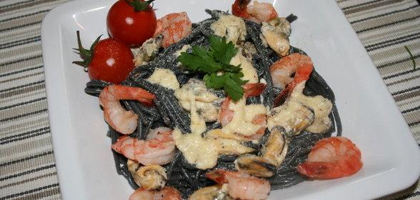 Черная паста рецепты с фото