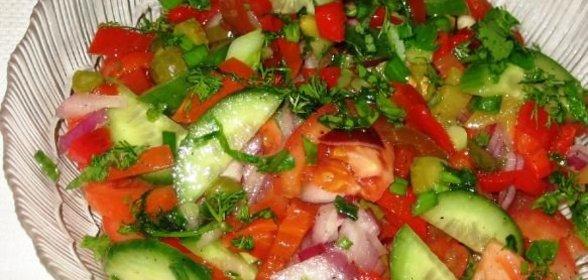Салат овощи рецепт