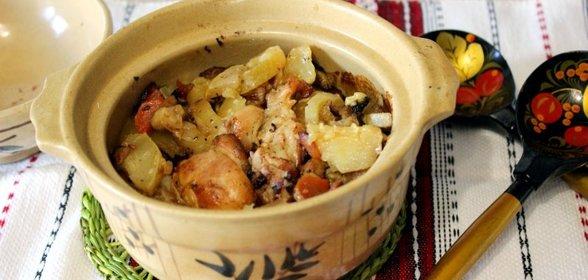 Куриное филе горшочке рецепт с фото