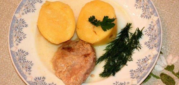 Картошка мясом простой рецепт фото
