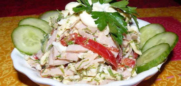 Салат ветчина болгарский перец рецепт с пошаговым фото