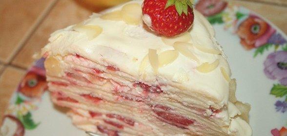 Рецепт клубничного торта с